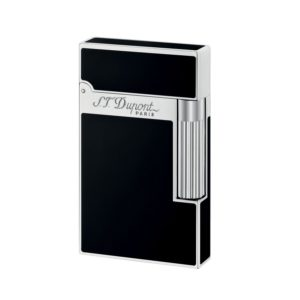 Briquet Laque Naturelle Finition Palladium Noir