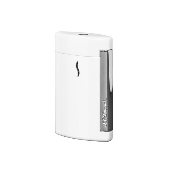 Briquet Minijet Chrome Blanc