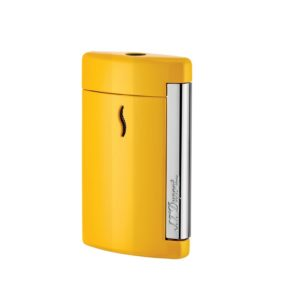 Briquet Minijet Chrome Jaune