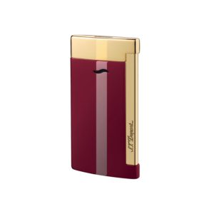 Briquet Slim  Doree Rouge Lotus