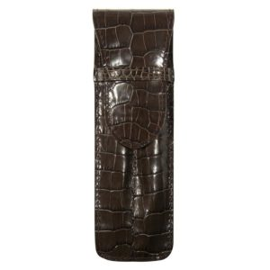 Etui  Stylos Veau Croco Savannah Cafe