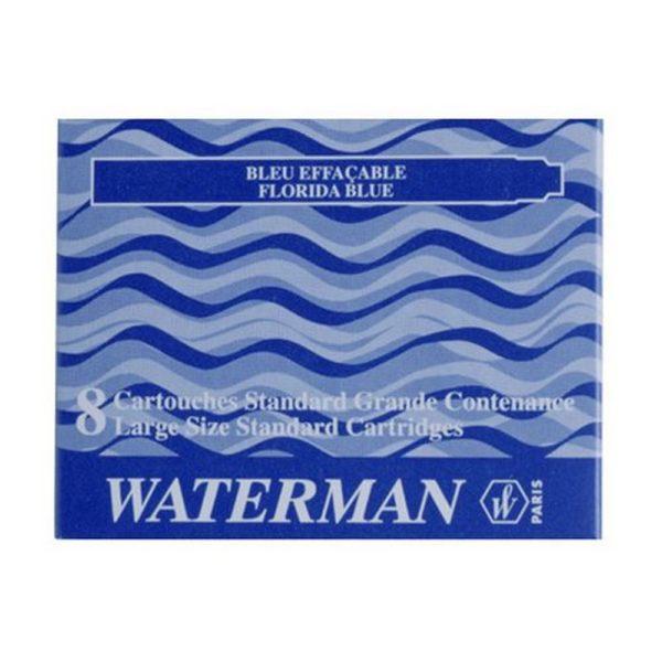 Etui De  Cartouches DEncre Waterman Bleu