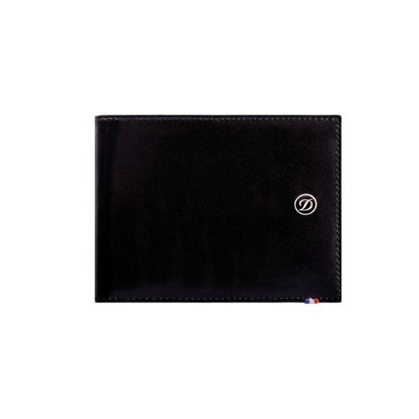 Porte Billets Cartes De Credit Cuir Ligne D Noir
