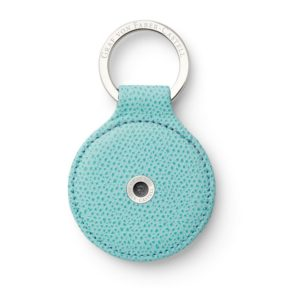 Porte Cles Rond Cuir Epsom Turquoise