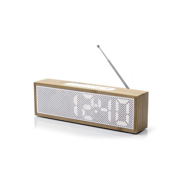 Titanium Radio Reveil Bambou Blanc