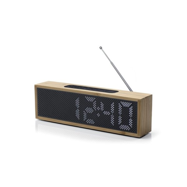 Titanium Radio Reveil Bambou Noir