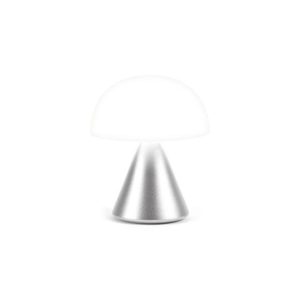 Lampe mina gris alu