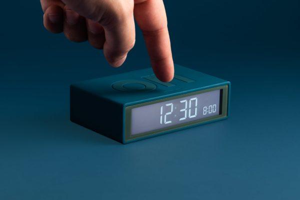 Réveil flip bleu
