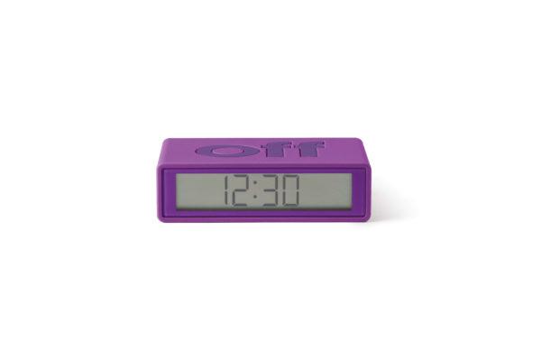 Réveil flip travel violet