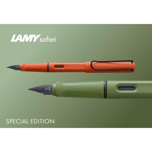 stylo plume safari orange vert